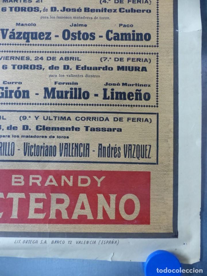 Carteles Toros: CARTEL TOROS - SEVILLA, FERIA ABRIL, AÑO 1964 - J. REUS - Foto 3 - 172220702