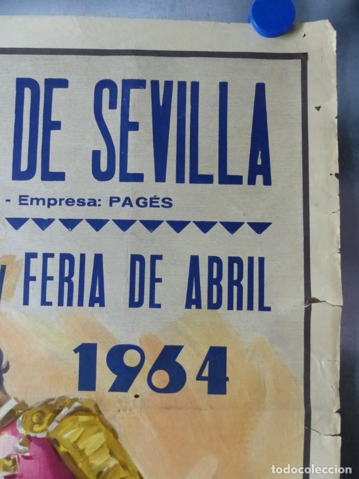 Carteles Toros: CARTEL TOROS - SEVILLA, FERIA ABRIL, AÑO 1964 - J. REUS - Foto 7 - 172220702