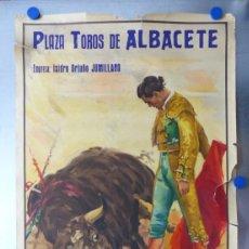 Carteles Toros: CARTEL TOROS - ALBACETE, FERIAS Y FIESTAS, AÑO 1960 - J. REUS. Lote 172220915