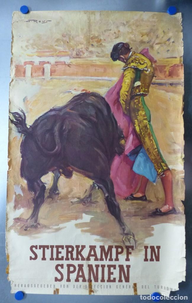CARTEL - STIERKAMPF IN SPANIEN - TOROS EN ESPAÑA, AÑOS 1960 - J. REUS (Coleccionismo - Carteles Gran Formato - Carteles Toros)