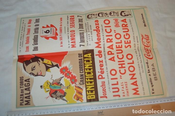 Carteles Toros: Plaza de toros de MÁLAGA - Año 1958 - Lote Carteles de toros originales y otros documentos ¡Mira! - Foto 3 - 172281634