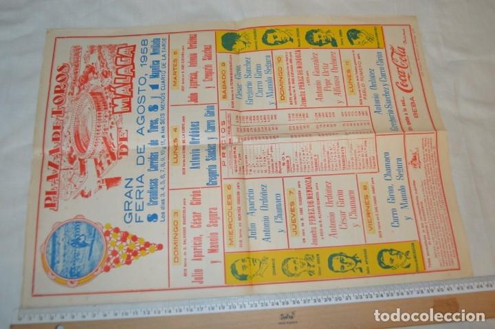 Carteles Toros: Plaza de toros de MÁLAGA - Año 1958 - Lote Carteles de toros originales y otros documentos ¡Mira! - Foto 4 - 172281634