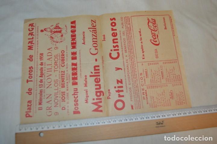 Carteles Toros: Plaza de toros de MÁLAGA - Año 1958 - Lote Carteles de toros originales y otros documentos ¡Mira! - Foto 6 - 172281634