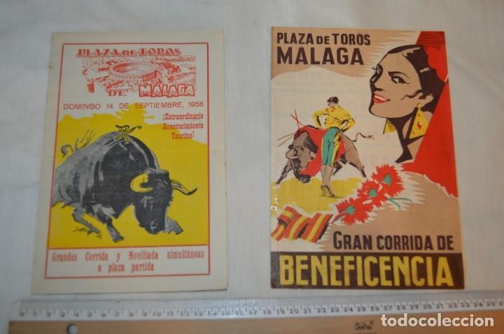 Carteles Toros: Plaza de toros de MÁLAGA - Año 1958 - Lote Carteles de toros originales y otros documentos ¡Mira! - Foto 7 - 172281634