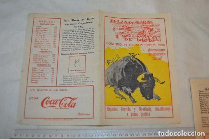 Carteles Toros: Plaza de toros de MÁLAGA - Año 1958 - Lote Carteles de toros originales y otros documentos ¡Mira! - Foto 8 - 172281634
