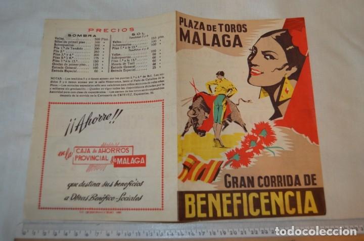 Carteles Toros: Plaza de toros de MÁLAGA - Año 1958 - Lote Carteles de toros originales y otros documentos ¡Mira! - Foto 10 - 172281634