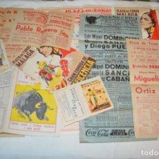 Carteles Toros: PLAZA DE TOROS DE MÁLAGA - AÑO 1958 - LOTE CARTELES DE TOROS ORIGINALES Y OTROS DOCUMENTOS ¡MIRA!. Lote 172281634