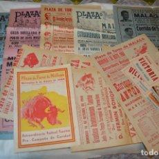 Carteles Toros: PLAZA DE TOROS DE MÁLAGA - AÑO 1960 - LOTE 02 CARTELES DE TOROS ORIGINALES Y OTROS DOCUMENTOS ¡MIRA!. Lote 172291078