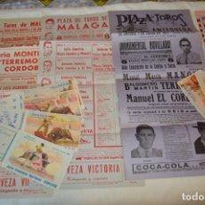 Carteles Toros: PLAZA DE TOROS DE MÁLAGA - AÑO 1961 - LOTE CARTELES DE TOROS ORIGINALES Y OTROS DOCUMENTOS ¡MIRA!. Lote 172292850