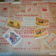 Carteles Toros: PLAZA DE TOROS DE MÁLAGA - AÑO 1962 - LOTE CARTELES DE TOROS ORIGINALES Y OTROS DOCUMENTOS ¡MIRA!. Lote 172292915