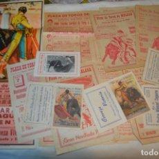 Carteles Toros: PLAZA DE TOROS DE MÁLAGA - AÑO 1963/64 - LOTE CARTELES DE TOROS ORIGINALES Y OTROS DOCUMENTOS ¡MIRA!. Lote 172304320
