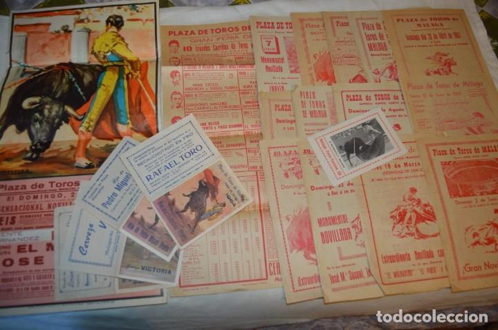 Carteles Toros: Plaza de toros de MÁLAGA - Año 1963/64 - Lote Carteles de toros originales y otros documentos ¡Mira! - Foto 2 - 172304320