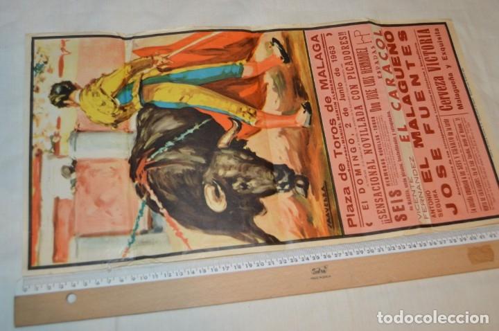 Carteles Toros: Plaza de toros de MÁLAGA - Año 1963/64 - Lote Carteles de toros originales y otros documentos ¡Mira! - Foto 3 - 172304320