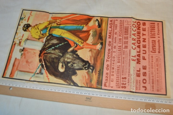 Carteles Toros: Plaza de toros de MÁLAGA - Año 1963/64 - Lote Carteles de toros originales y otros documentos ¡Mira! - Foto 4 - 172304320