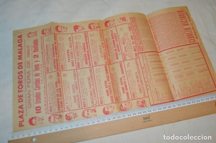 Carteles Toros: Plaza de toros de MÁLAGA - Año 1963/64 - Lote Carteles de toros originales y otros documentos ¡Mira! - Foto 5 - 172304320