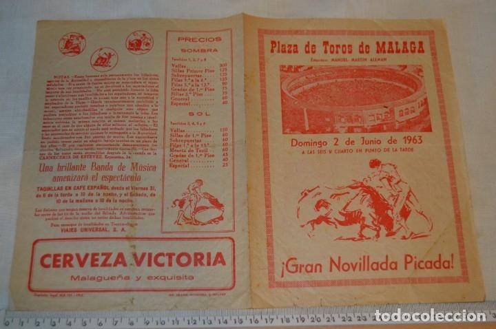 Carteles Toros: Plaza de toros de MÁLAGA - Año 1963/64 - Lote Carteles de toros originales y otros documentos ¡Mira! - Foto 6 - 172304320