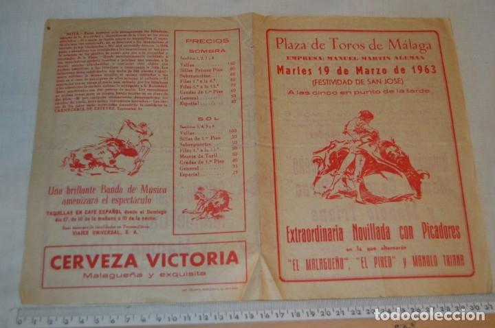 Carteles Toros: Plaza de toros de MÁLAGA - Año 1963/64 - Lote Carteles de toros originales y otros documentos ¡Mira! - Foto 8 - 172304320