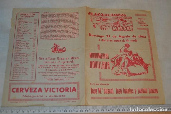 Carteles Toros: Plaza de toros de MÁLAGA - Año 1963/64 - Lote Carteles de toros originales y otros documentos ¡Mira! - Foto 10 - 172304320