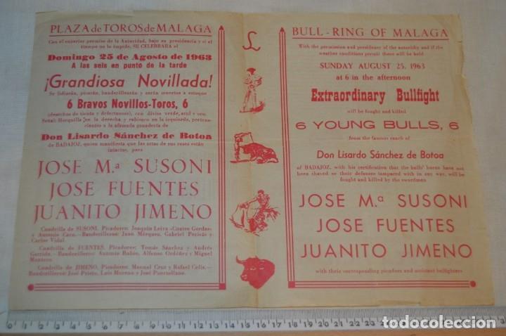 Carteles Toros: Plaza de toros de MÁLAGA - Año 1963/64 - Lote Carteles de toros originales y otros documentos ¡Mira! - Foto 11 - 172304320