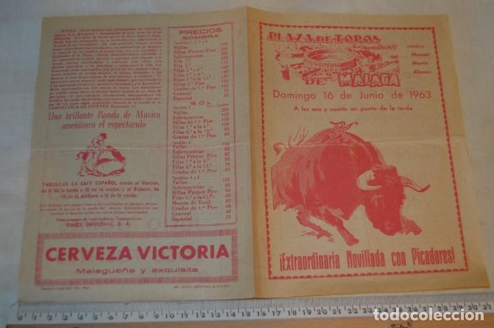 Carteles Toros: Plaza de toros de MÁLAGA - Año 1963/64 - Lote Carteles de toros originales y otros documentos ¡Mira! - Foto 12 - 172304320