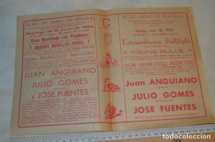 Carteles Toros: Plaza de toros de MÁLAGA - Año 1963/64 - Lote Carteles de toros originales y otros documentos ¡Mira! - Foto 13 - 172304320