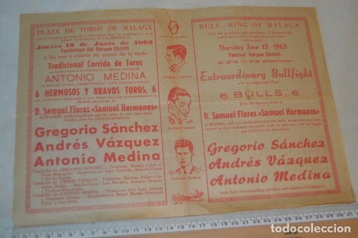 Carteles Toros: Plaza de toros de MÁLAGA - Año 1963/64 - Lote Carteles de toros originales y otros documentos ¡Mira! - Foto 15 - 172304320