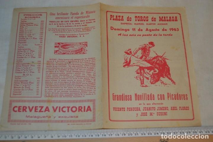 Carteles Toros: Plaza de toros de MÁLAGA - Año 1963/64 - Lote Carteles de toros originales y otros documentos ¡Mira! - Foto 16 - 172304320