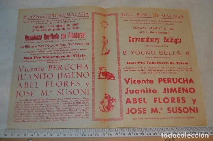 Carteles Toros: Plaza de toros de MÁLAGA - Año 1963/64 - Lote Carteles de toros originales y otros documentos ¡Mira! - Foto 17 - 172304320
