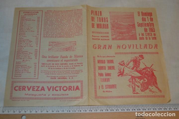 Carteles Toros: Plaza de toros de MÁLAGA - Año 1963/64 - Lote Carteles de toros originales y otros documentos ¡Mira! - Foto 18 - 172304320