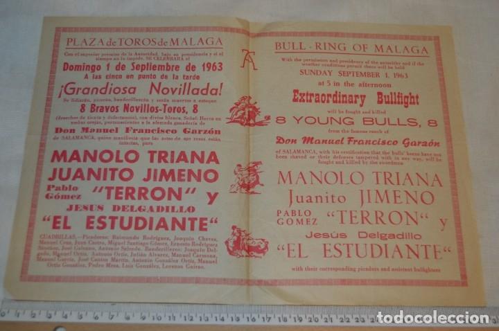 Carteles Toros: Plaza de toros de MÁLAGA - Año 1963/64 - Lote Carteles de toros originales y otros documentos ¡Mira! - Foto 19 - 172304320