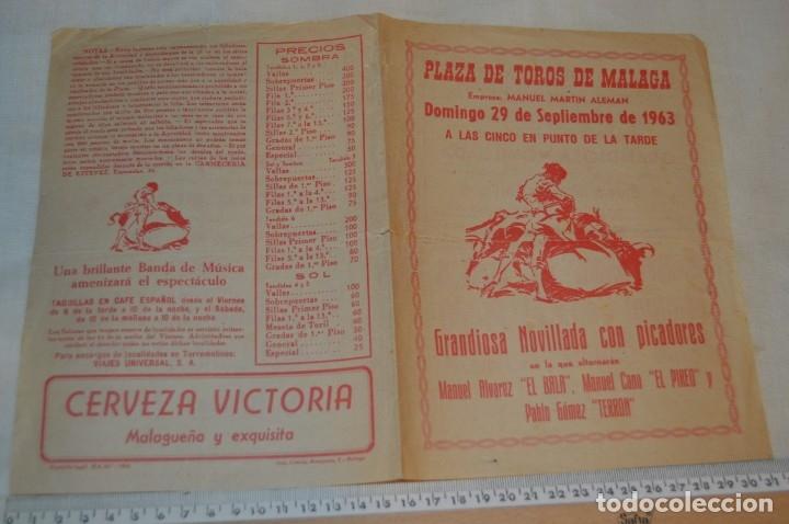 Carteles Toros: Plaza de toros de MÁLAGA - Año 1963/64 - Lote Carteles de toros originales y otros documentos ¡Mira! - Foto 20 - 172304320