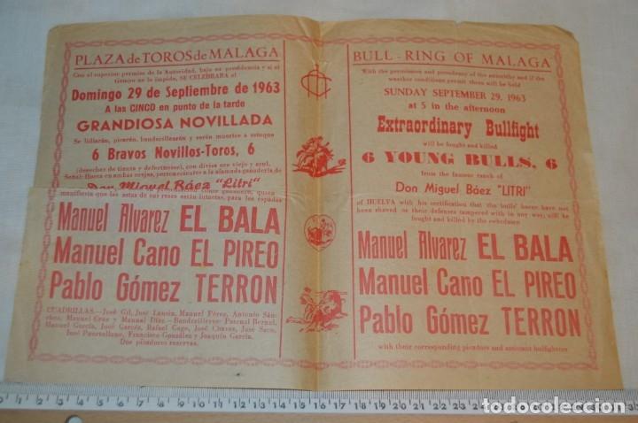 Carteles Toros: Plaza de toros de MÁLAGA - Año 1963/64 - Lote Carteles de toros originales y otros documentos ¡Mira! - Foto 21 - 172304320