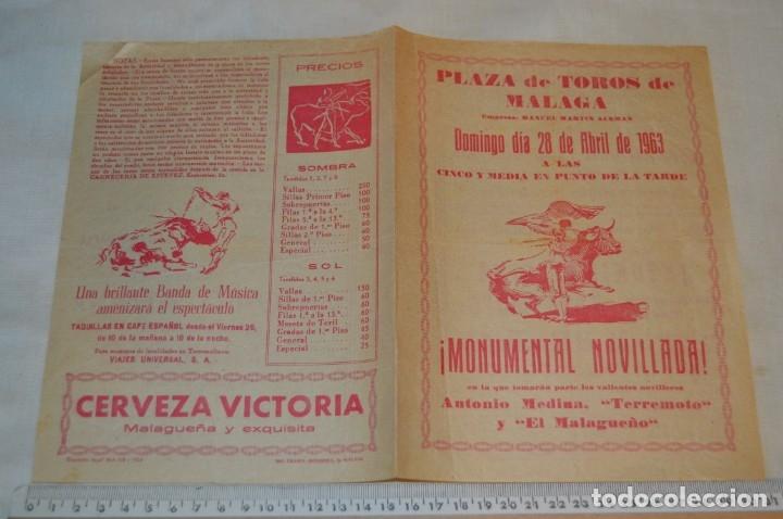 Carteles Toros: Plaza de toros de MÁLAGA - Año 1963/64 - Lote Carteles de toros originales y otros documentos ¡Mira! - Foto 22 - 172304320