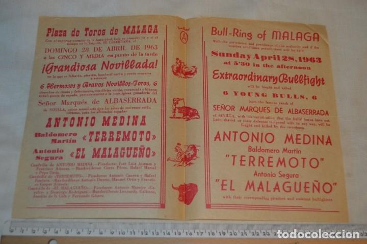 Carteles Toros: Plaza de toros de MÁLAGA - Año 1963/64 - Lote Carteles de toros originales y otros documentos ¡Mira! - Foto 23 - 172304320