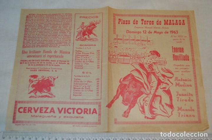 Carteles Toros: Plaza de toros de MÁLAGA - Año 1963/64 - Lote Carteles de toros originales y otros documentos ¡Mira! - Foto 26 - 172304320