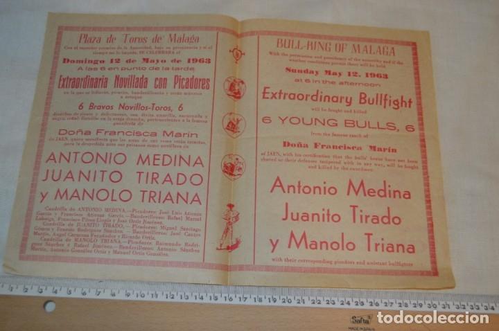 Carteles Toros: Plaza de toros de MÁLAGA - Año 1963/64 - Lote Carteles de toros originales y otros documentos ¡Mira! - Foto 27 - 172304320