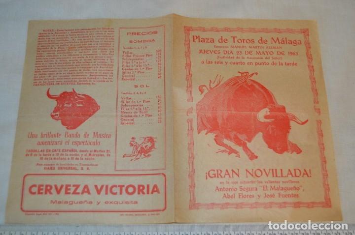 Carteles Toros: Plaza de toros de MÁLAGA - Año 1963/64 - Lote Carteles de toros originales y otros documentos ¡Mira! - Foto 28 - 172304320