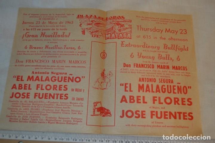Carteles Toros: Plaza de toros de MÁLAGA - Año 1963/64 - Lote Carteles de toros originales y otros documentos ¡Mira! - Foto 29 - 172304320