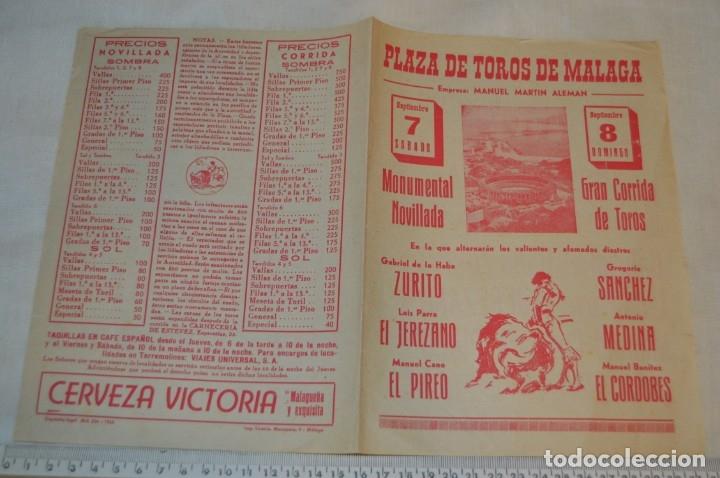 Carteles Toros: Plaza de toros de MÁLAGA - Año 1963/64 - Lote Carteles de toros originales y otros documentos ¡Mira! - Foto 30 - 172304320
