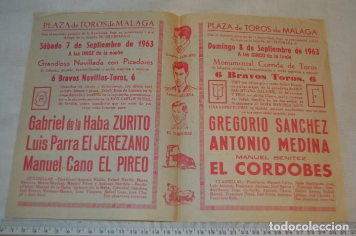 Carteles Toros: Plaza de toros de MÁLAGA - Año 1963/64 - Lote Carteles de toros originales y otros documentos ¡Mira! - Foto 31 - 172304320