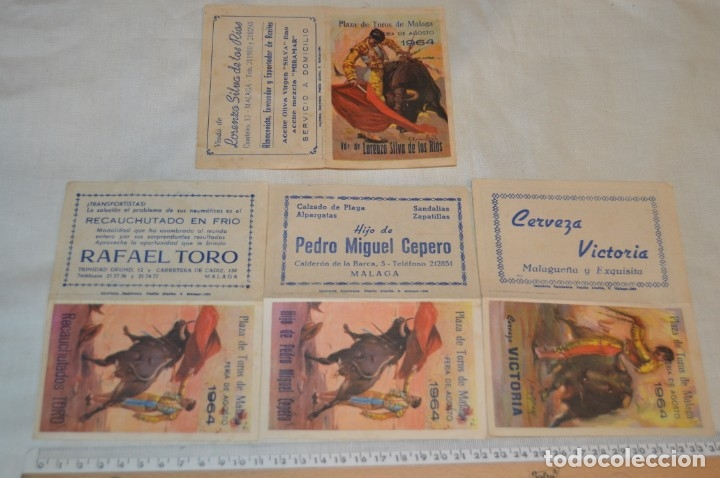 Carteles Toros: Plaza de toros de MÁLAGA - Año 1963/64 - Lote Carteles de toros originales y otros documentos ¡Mira! - Foto 32 - 172304320