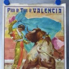Carteles Toros: VALENCIA - CARTEL DE TOROS - LITOGRAFIA - AÑO 1966, CROS ESTREMS. Lote 172640394