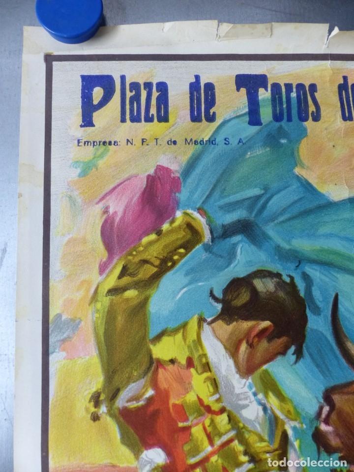 Carteles Toros: VALENCIA - CARTEL DE TOROS - LITOGRAFIA - AÑO 1966, CROS ESTREMS - Foto 4 - 172640394