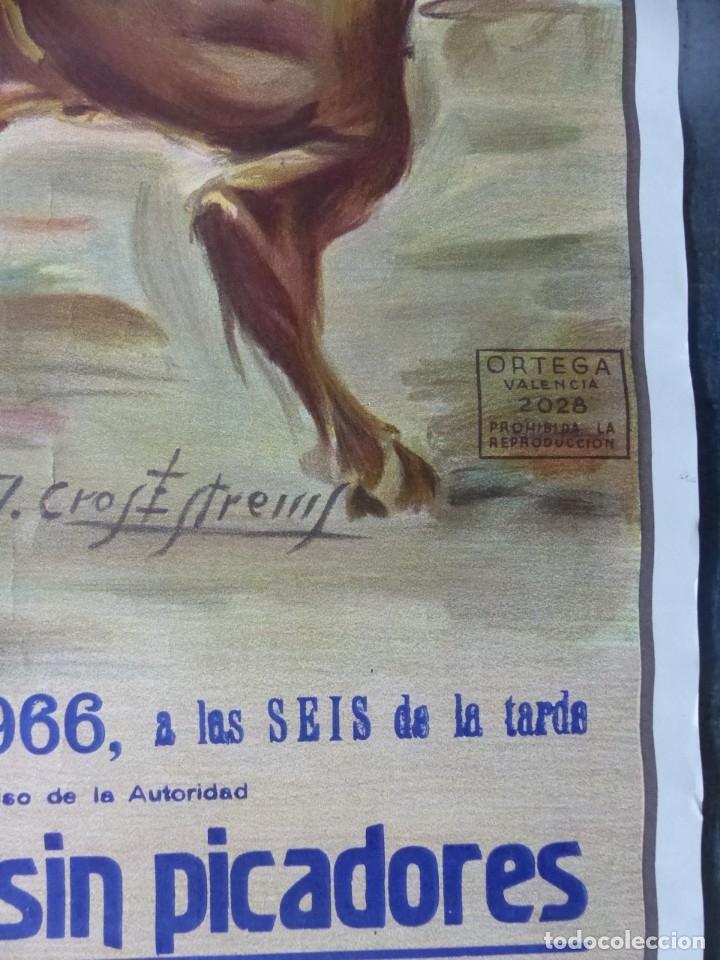 Carteles Toros: VALENCIA - CARTEL DE TOROS - LITOGRAFIA - AÑO 1966, CROS ESTREMS - Foto 7 - 172640394