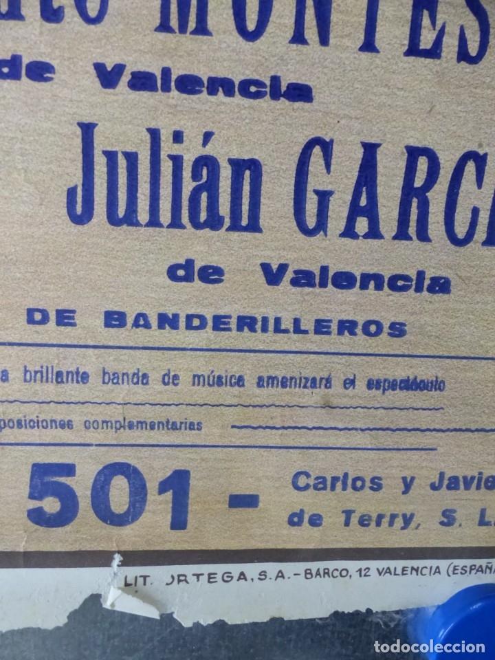 Carteles Toros: VALENCIA - CARTEL DE TOROS - LITOGRAFIA - AÑO 1966, CROS ESTREMS - Foto 9 - 172640394