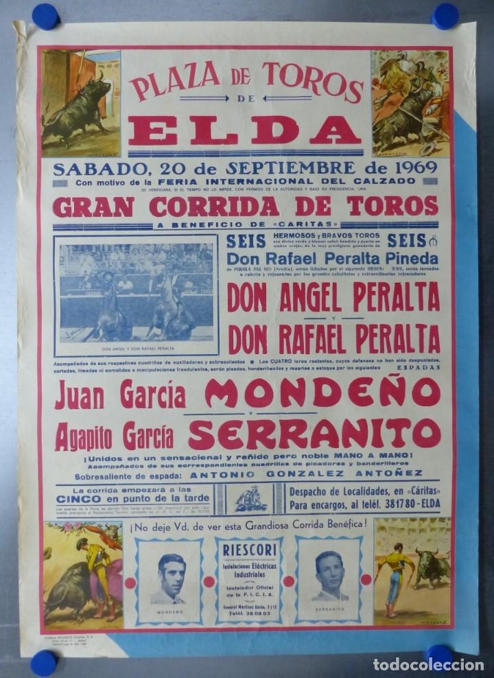 ELDA, ALICANTE - CARTEL DE TOROS - AÑO 1969, SAAVEDRA (Coleccionismo - Carteles Gran Formato - Carteles Toros)