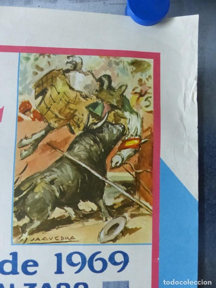 Carteles Toros: ELDA, ALICANTE - CARTEL DE TOROS - AÑO 1969, SAAVEDRA - Foto 3 - 172640562