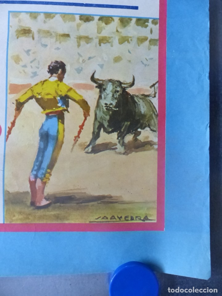 Carteles Toros: ELDA, ALICANTE - CARTEL DE TOROS - AÑO 1969, SAAVEDRA - Foto 4 - 172640562