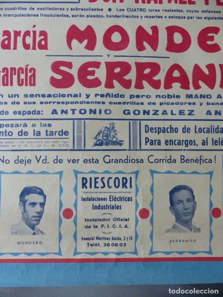 Carteles Toros: ELDA, ALICANTE - CARTEL DE TOROS - AÑO 1969, SAAVEDRA - Foto 7 - 172640562