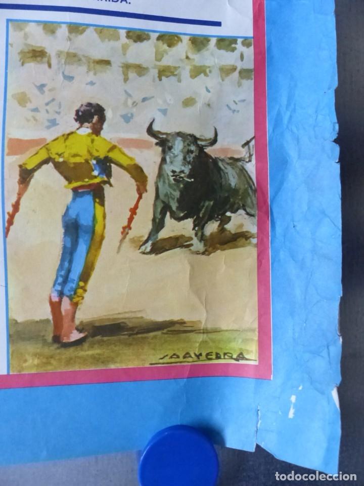 Carteles Toros: VILLENA, ALICANTE - CARTEL DE TOROS - AÑO 1969, SAAVEDRA - Foto 2 - 172640634